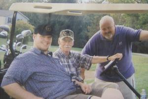 Dad Dave Josh golf