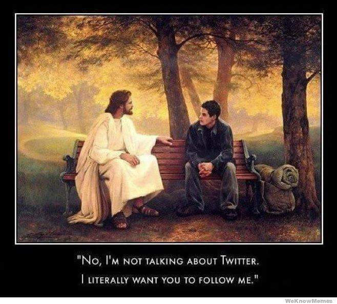follow me - Jesus