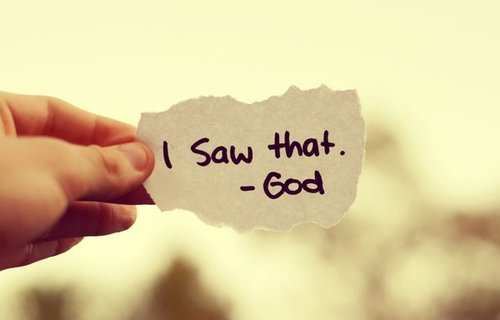 I saw that-god